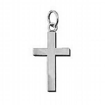 Krzyż Srebrny 20x12mm zwykły bryły