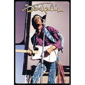 ジミは、ヘンドリックス - ロック ポスター ポスター印刷
