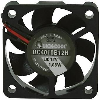 Axial fan 12 Vdc 12.23 m³/h (L x W x H) 40 x 40 x 10 mm QuickCoo