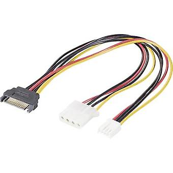 Current Y adapter [1x SATA power plug - 1x IDE power socket 4-pin, Floppy power socket 4-pin