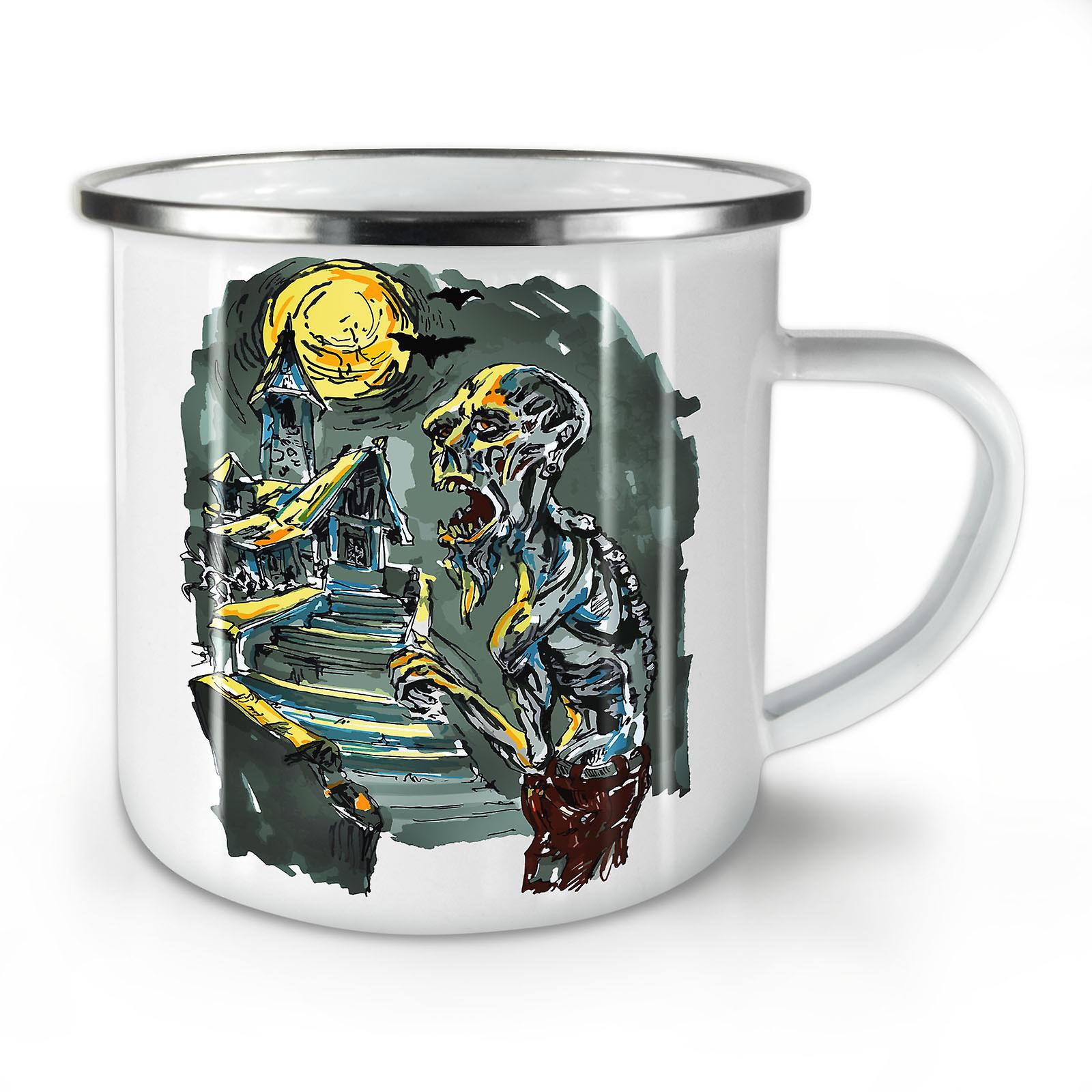 Zombie Enamel Mug10 Whitetea New OzWellcoda Graveyard Coffee WYEDH92I