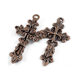 Packet 5 x Red Copper Tibetan 48mm Celtic Cross Pagan Charm/Pendant ZX01510