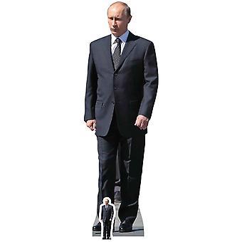 Vladimir Putin Russlands Präsident Politiker Karton Ausschnitt / AC