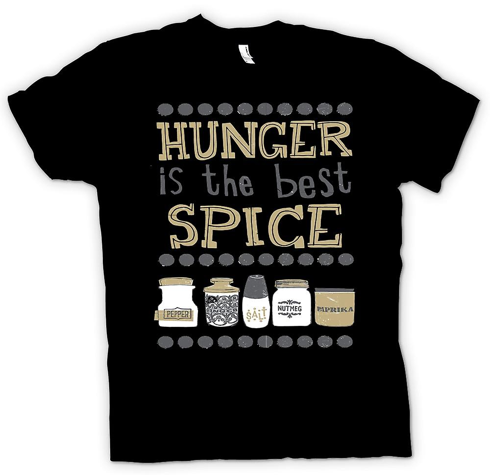 Mens T-shirt - Hunger Is The Best Spice - Funny