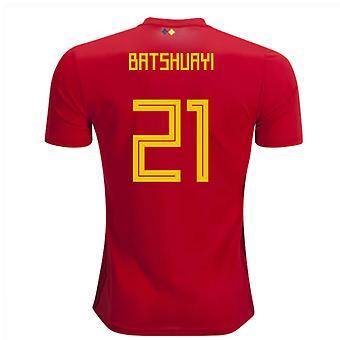 2018-2019 Belgio Adidas Home camicia (Batshuayi 21) - bambini