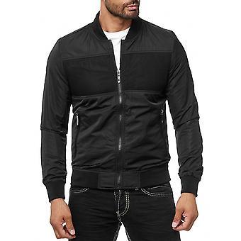 Transición chaqueta malla inserto Cazadora bombardero ligero chaqueta negro corto abrigo hombres de