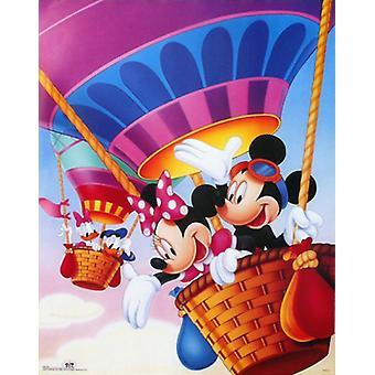 Mickey & vrienden hete lucht ballonnen Poster Print by Walt Disney (22 x 28)