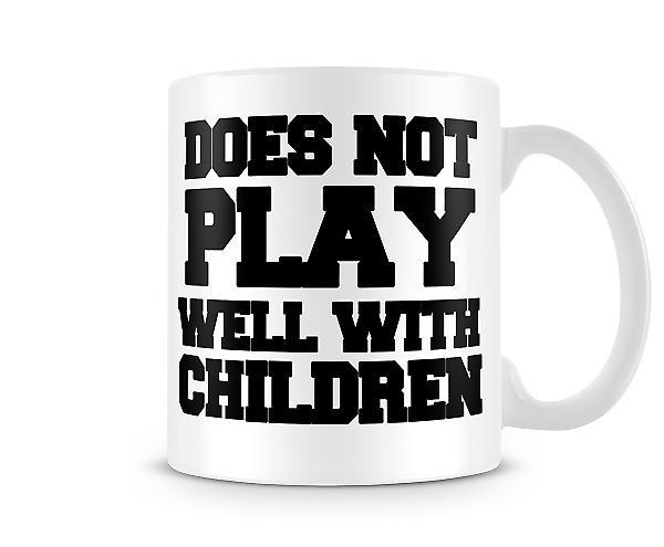 Non gioca bene stampato Mug