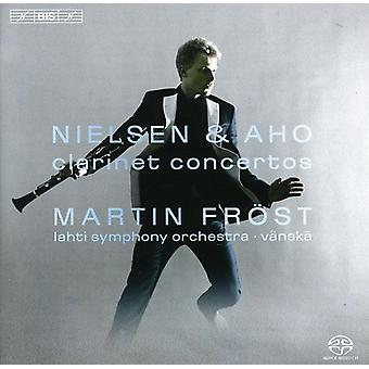 Frost/Lahti Symphony Orchestra - Nielsen & Aho: Clarinet Concertos [SACD] USA import