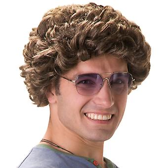Comedy star wig Abou curly brown