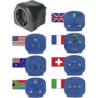 Travel adapter 7-piece set Reisstekker-set met 10A-zekering Brennenstuhl