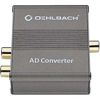 Puente Convertidor AD de Oehlbach Audio/fono [RCA - Toslink, RCA]
