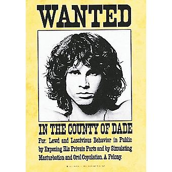 Jim Morrison Doors Wanted Large Fabric Poster/ Flag 1100Mm X 750Mm