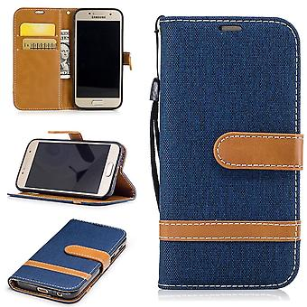 Case for Samsung Galaxy A3 2017 jeans cover cell phone protective cover case dark blue