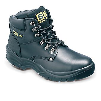 Sterling Steel Black Leather Safety Work Boots. Steel Toe & Midsole  – SS806SM