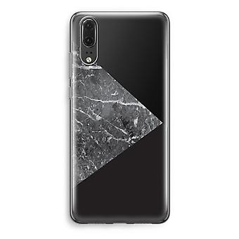 Huawei P20 Transparent Case - Marble combination