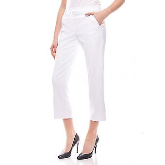 sheego ladies business pant in 7/8 length Summer pants white