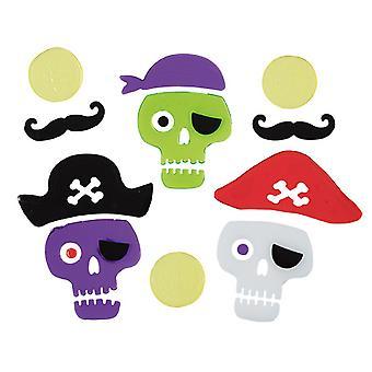 Door and window gel stickers self-adhesive pirate motifs Buccaneer pirate Halloween