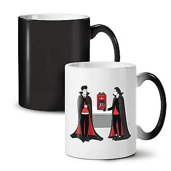 Vampire Drink NEW Black Colour Changing Tea Coffee Ceramic Mug 11 oz   Wellcoda