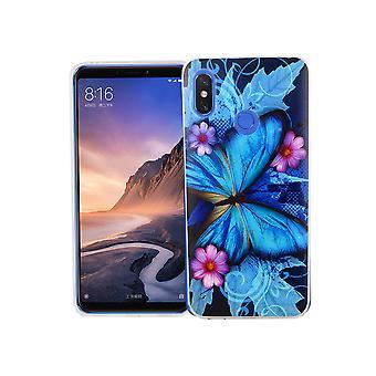 Xiaomi MI Max 3 phone case protective case cover bumper Butterfly blue
