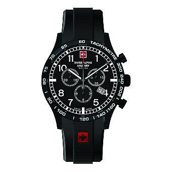 Swiss Alpine military men's watch Chrono 1746.9877SAM silicone