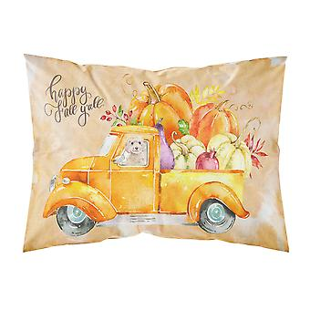 Fall Harvest Champagne Cockapoo Fabric Standard Pillowcase
