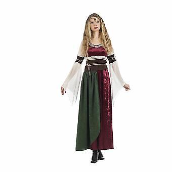 Famoso noble princesa Xena de traje medieval de señora Dama de honor