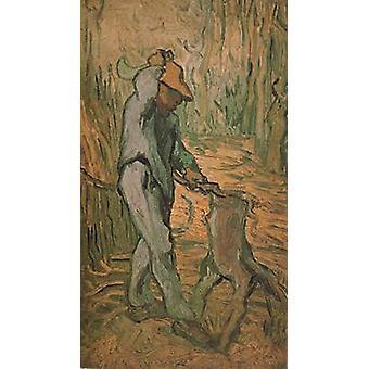 The Woodcutter,Vincent Van Gogh,43.5x25cm