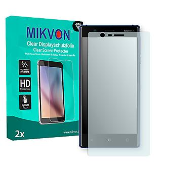 Nokia 3 Screen Protector - Mikvon Clear (Retail Package with accessories) (reduced foil)