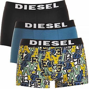 Diesel 3-Pack Boxer Trunk UMBX-Shawn, Black / Blue / Graffiti Print, X-Large