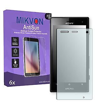 Sony Xperia Acro S LT26w Screen Protector - Mikvon AntiSun (Retail Package with accessories)