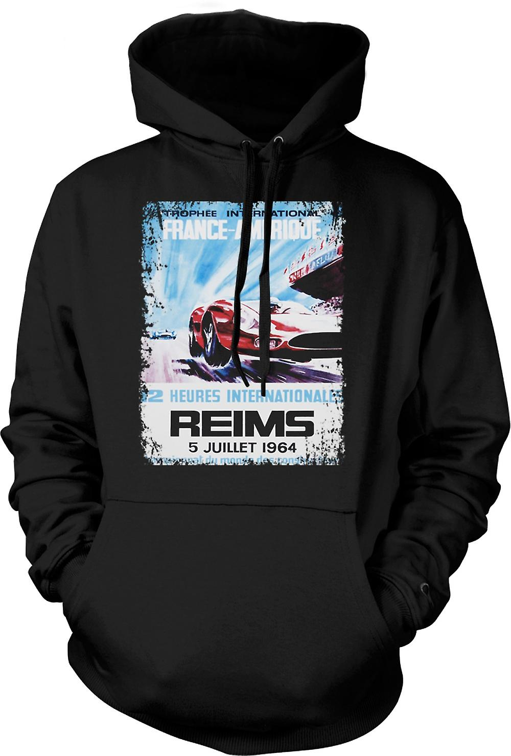 Kids Hoodie - Reims Grand Prix 64 - Racing Car