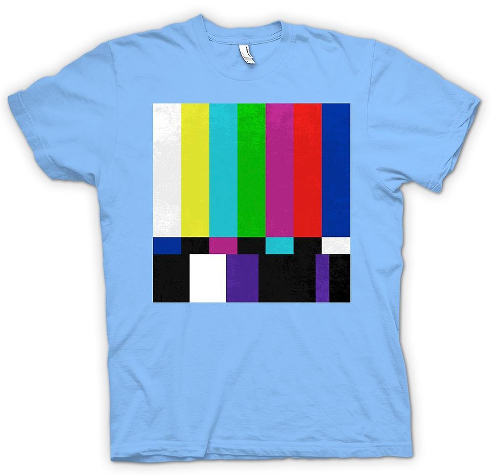 Mens T-shirt - TV Technical Screen 80s Retro
