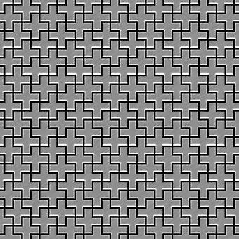 Mosaico de metal sólido Acero inoxidable ALLOY Swiss-Cross-S-S-MB