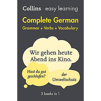Easy Learning Complete German Grammar - Verbs and Vocabulary (3 Books