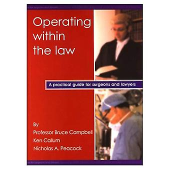 Operating Within the Law A Practical Guide for Surgeons And Lawyers