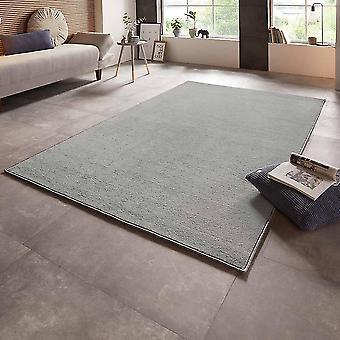 Velours tapijt kale uni licht grijs