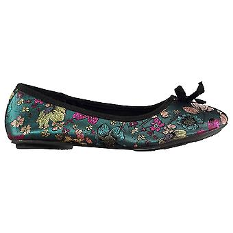 Miso Womens Floral Ladies Ballet Shoes