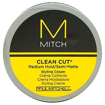 Mitch schoon gesneden Medium Hold/Semi-Matte Styling Crème door Paul Mitchell voor mannen - 3 oz crème