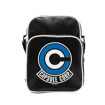 Dragon Ball Messenger bag capsule Corp. Messenger bag, black, artificial leather (polyurethane), adjustable shoulder strap.