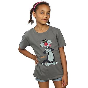 Looney Tunes ragazze Sylvester Distressed t-shirt