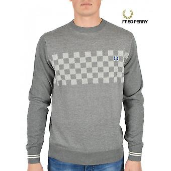 Fred Perry Men's Checkerboard Crew SweatShirt K6224-420