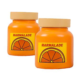 Bigjigs Toys Wooden Play Food Spreads (Pack of 2 - Marmalade) Role Play Kitchen
