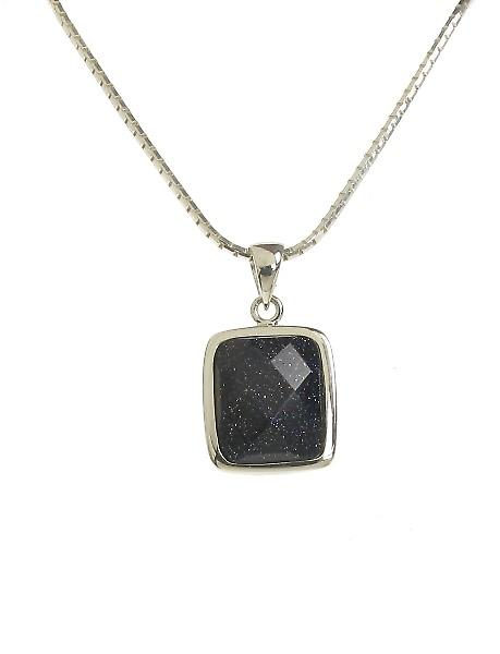Cavendish French A Little Square Blue Sandstone Pendant