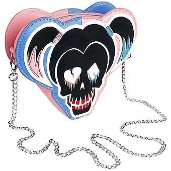 Suicide Squad Harley Quinn Skull Icon Cross Body Bag