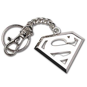 DC Comics Superman Stainless Steel Logo Keychain
