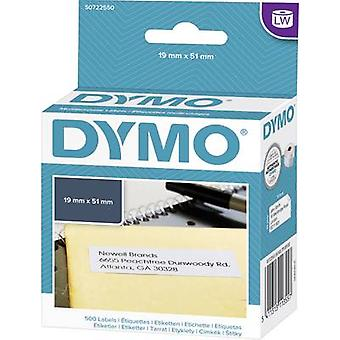 DYMO S0722550 Label roll 51 x 19 mm Paper White 500 pc(s) Permanent All-purpose labels