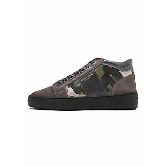 Android Homme  Android Homme Grey Camouflage Suede Propulsion Mid Sneaker