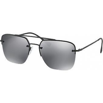 Prada SPS54S Black mirrored gray Rubber black