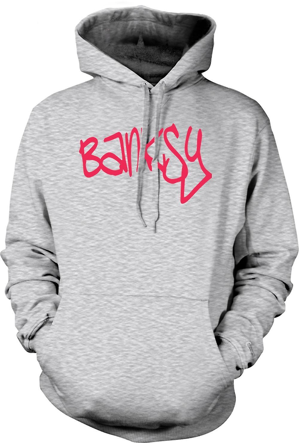 Mens Hoodie - Banksy Graffiti Artist